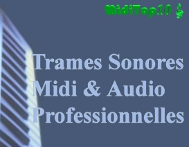 MidiTop10 Bandes Trames Sonores Midi Et Mp3 Pro Backing Tracks